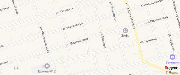 Улица Ворошилова на карте Архангельского села с номерами домов