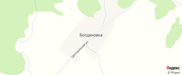 Центральная улица на карте деревни Богдановки с номерами домов
