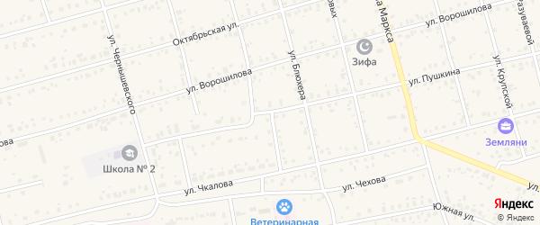 Улица Пушкина на карте Архангельского села с номерами домов