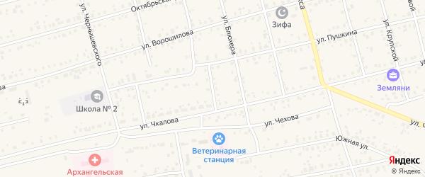 Улица Кашириных на карте Архангельского села с номерами домов