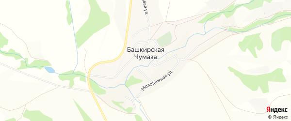 Карта деревни Башкирской Чумазы в Башкортостане с улицами и номерами домов