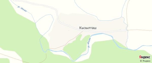 Улица Мира на карте деревни Кызылташа с номерами домов