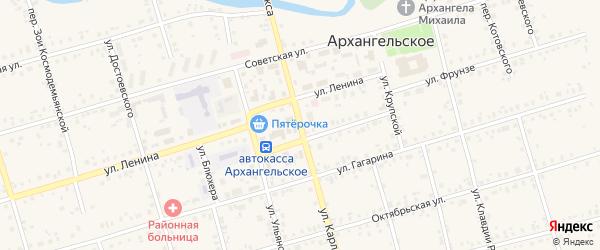 Улица К.Маркса на карте Архангельского села с номерами домов