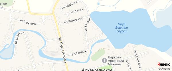 Бикбая улица на карте Архангельского села с номерами домов