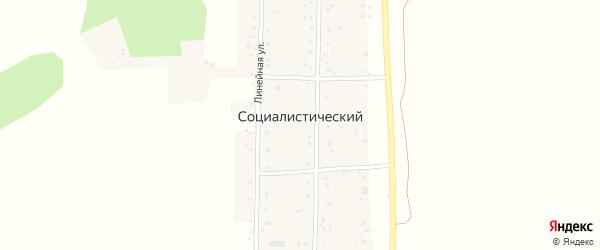 Линейная улица на карте деревни Социалистического с номерами домов