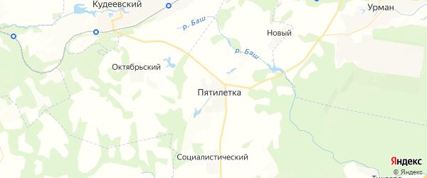 Карта Надеждинского сельсовета республики Башкортостан с районами, улицами и номерами домов