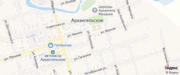 Улица Н.Крупской на карте Архангельского села с номерами домов