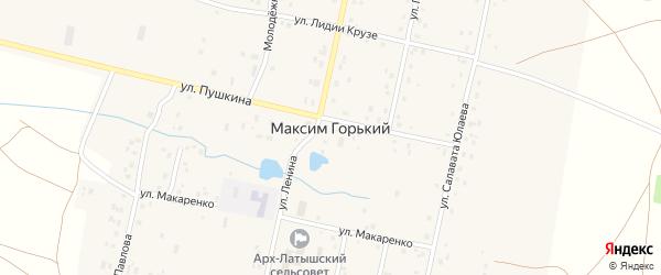 Улица Пушкина на карте деревни Максима Горького с номерами домов