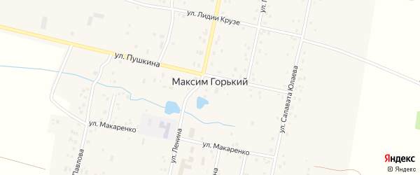 Улица Шаймуратова на карте деревни Максима Горького с номерами домов