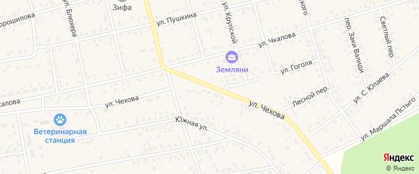 Улица Чехова на карте Архангельского села с номерами домов