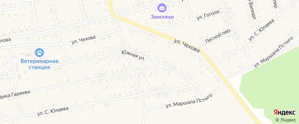 Южная улица на карте Архангельского села с номерами домов