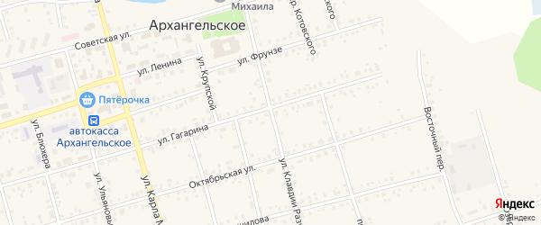 Улица К.Разуваевой на карте Архангельского села с номерами домов