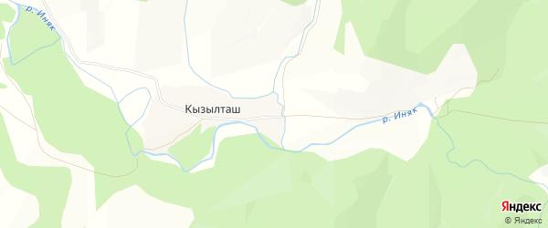 Карта деревни Кызылташа в Башкортостане с улицами и номерами домов