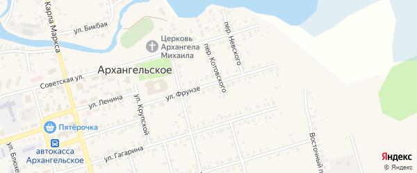 Улица Фрунзе на карте Архангельского села с номерами домов
