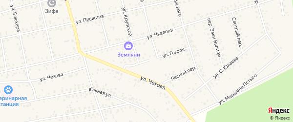 Улица Гоголя на карте Архангельского села с номерами домов
