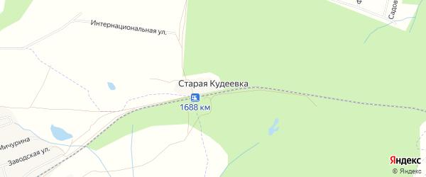 Карта деревни Старой Кудеевки в Башкортостане с улицами и номерами домов