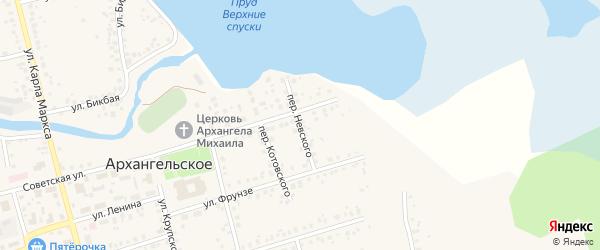 Переулок Невского на карте Архангельского села с номерами домов