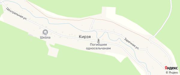 Береговая улица на карте села Кирзи с номерами домов