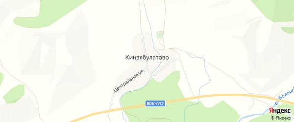 Карта деревни Кинзябулатово в Башкортостане с улицами и номерами домов