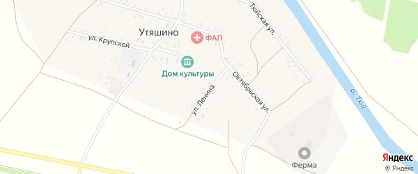 Улица Ленина на карте деревни Утяшино с номерами домов