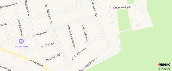 Светлый переулок на карте Архангельского села с номерами домов