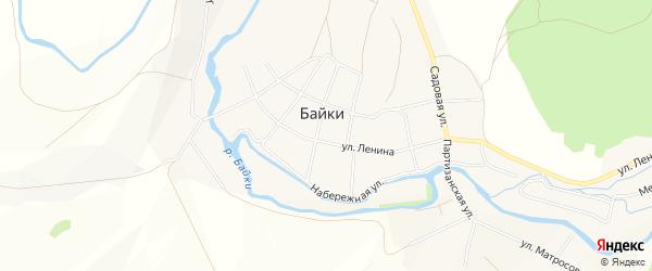 Карта села Байки в Башкортостане с улицами и номерами домов