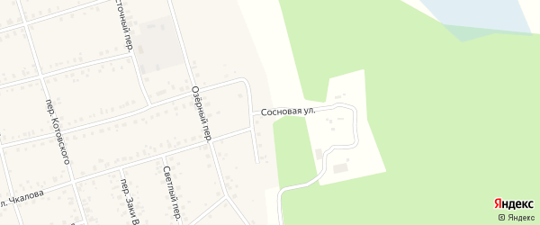 Сосновая улица на карте Архангельского села с номерами домов