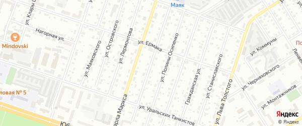 Улица Целищева на карте Березников с номерами домов