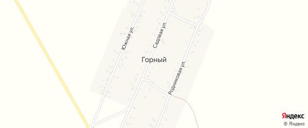 Садовая улица на карте деревни Горного с номерами домов