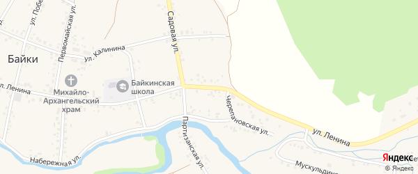 Улица Ленина на карте села Байки с номерами домов