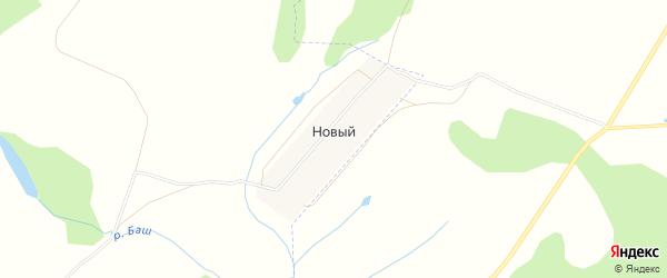 Карта деревни Нового в Башкортостане с улицами и номерами домов