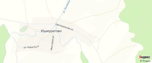 Карта деревни Ишмуратово в Башкортостане с улицами и номерами домов
