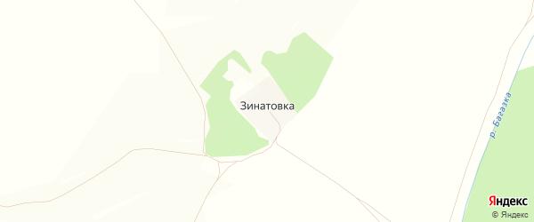 Карта деревни Зинатовки в Башкортостане с улицами и номерами домов