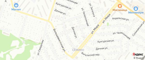 Пригородный переулок на карте Березников с номерами домов