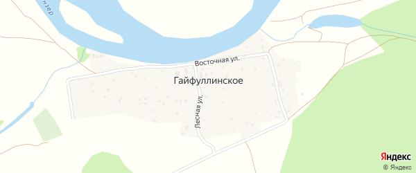 Лесная улица на карте деревни Гайфуллинского с номерами домов