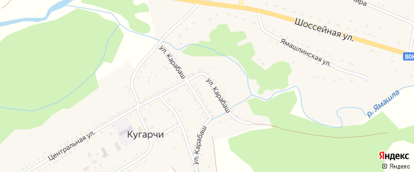 Комсомольская улица на карте села Кугарч с номерами домов