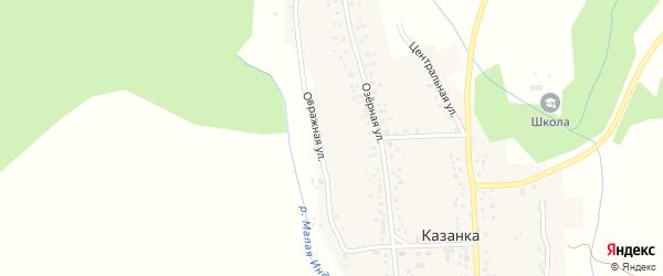 Овражная улица на карте села Казанки с номерами домов
