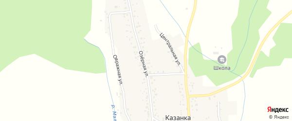 Озерная улица на карте села Казанки с номерами домов