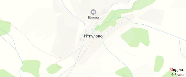 Карта деревни Иткулово в Башкортостане с улицами и номерами домов