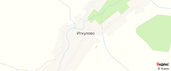 Школьная улица на карте деревни Иткулово с номерами домов