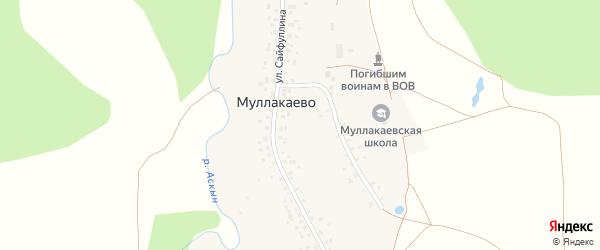 Улица Сайфуллина на карте деревни Муллакаево с номерами домов