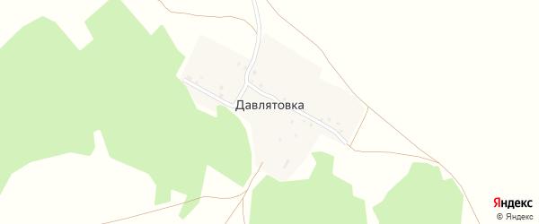 Солнечная улица на карте деревни Давлятовки с номерами домов