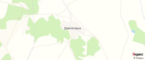 Карта деревни Давлятовки в Башкортостане с улицами и номерами домов