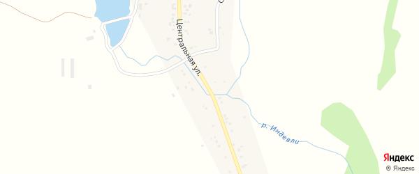 Центральная улица на карте села Казанки с номерами домов