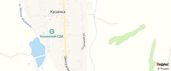 Спальная улица на карте села Казанки с номерами домов