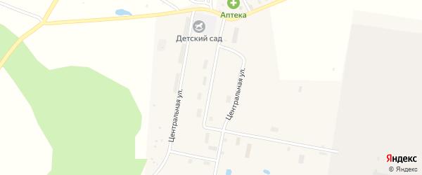 Центральная улица на карте села Урмана с номерами домов