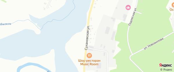 Сухановская улица на карте Березников с номерами домов