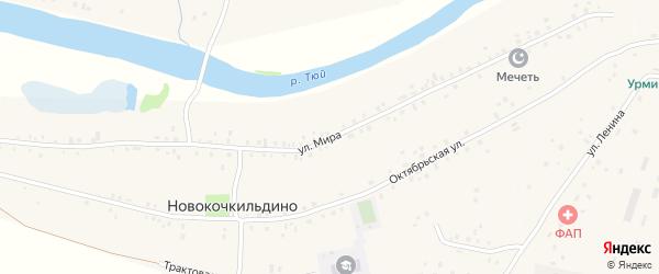 Улица Мира на карте деревни Новокочкильдино с номерами домов