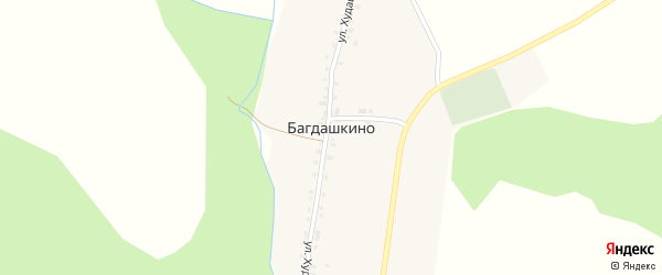 Улица Худайбердина на карте деревни Багдашкино с номерами домов