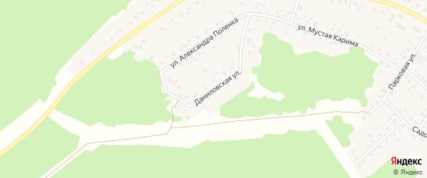 Даниловская улица на карте села Караидели с номерами домов